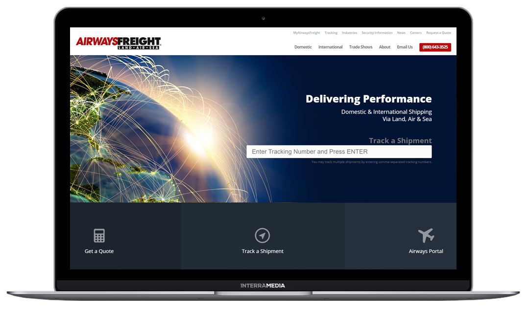 airways freight website design in northwest Arkansas