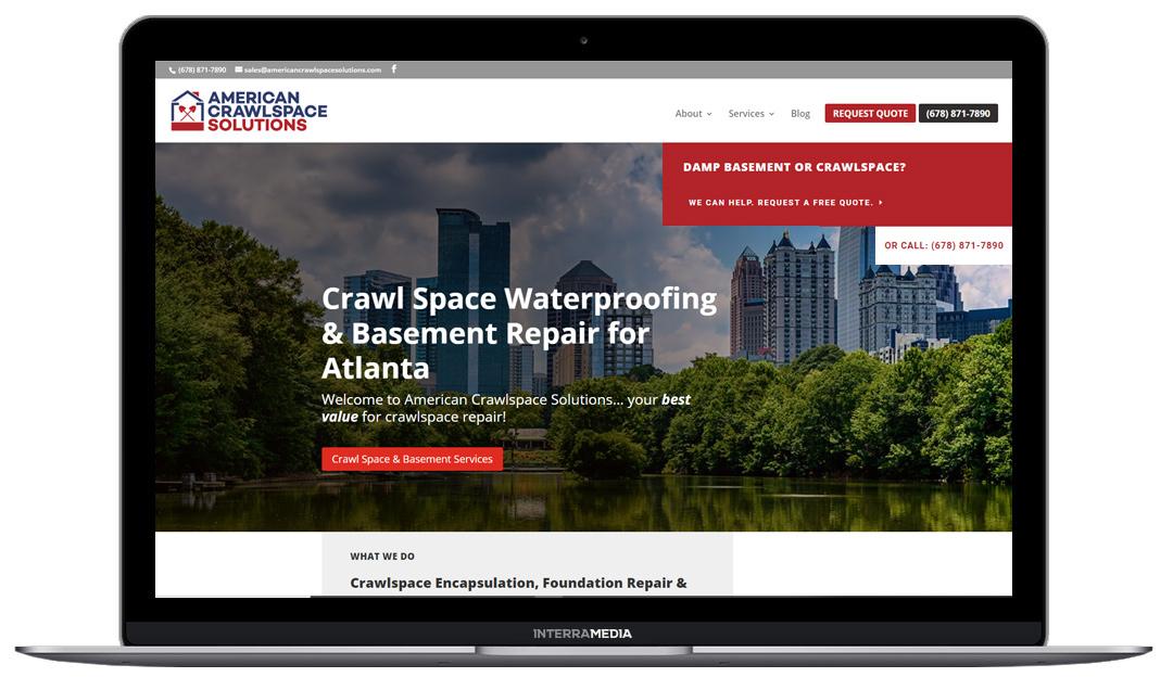 American Crawlspace Solutions website designed in Northwest Arkansas