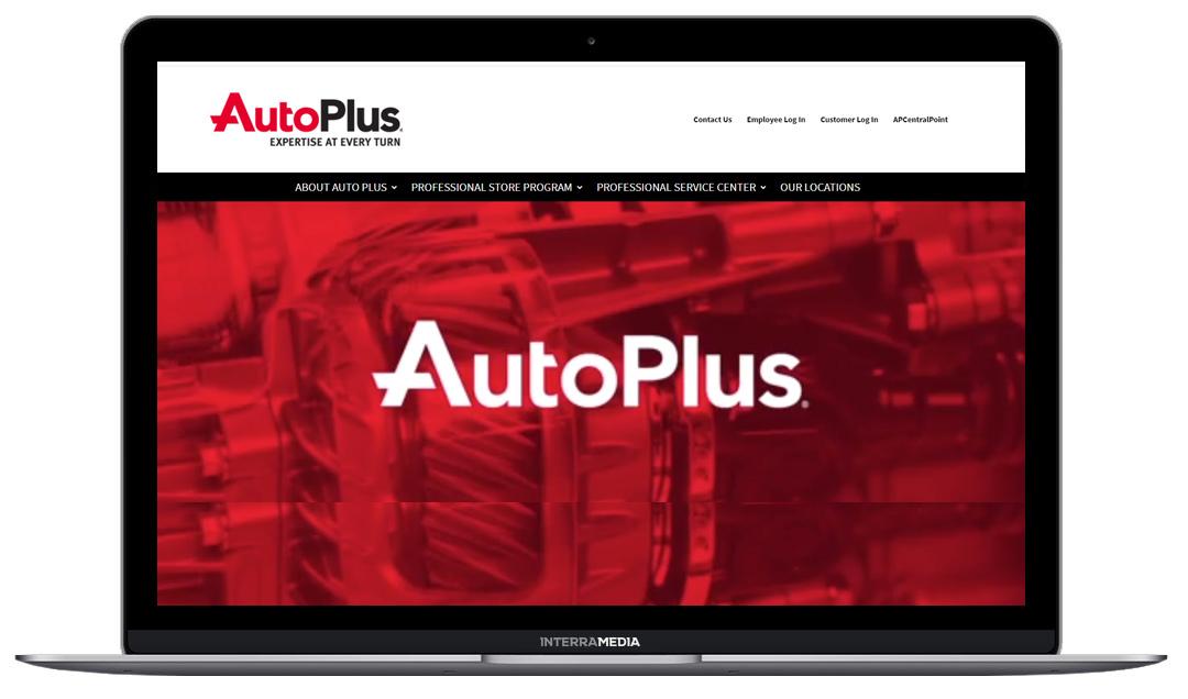 Auto Plus website designed in Fayetteville Arkansas