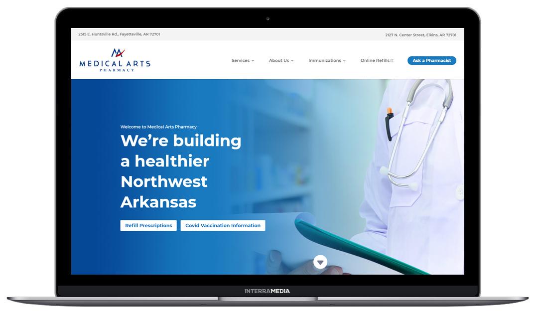 Medical Arts Pharmacy website designed in Fayetteville Arkansas