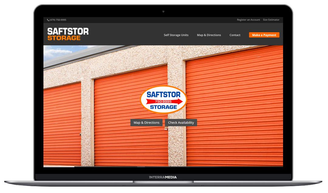 saftstor website design northwest arkansas