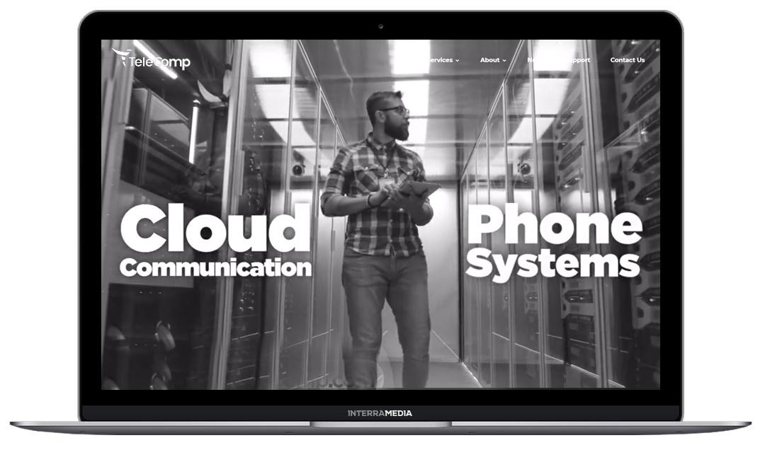 telecomp website designed in Fayetteville arkansas